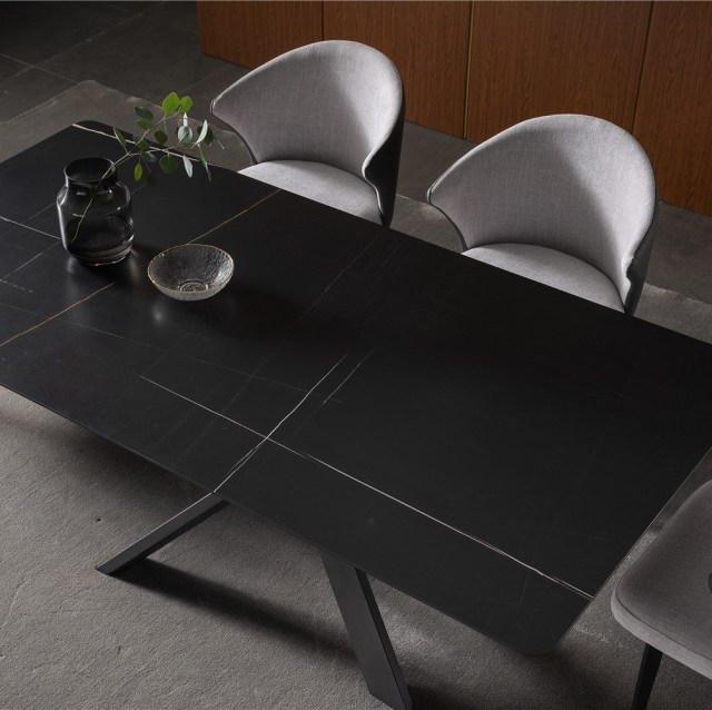 dkf710-china modern luxury home furniture metal slate mable top kitchen dining table supplier manufacturer factory company-furbyme (1)