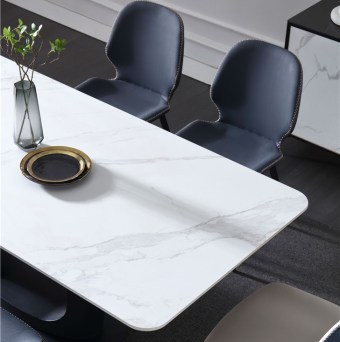 dkf734-china modern luxury home furniture metal slate mable top kitchen dining table supplier manufacturer factory company-furbyme (5)