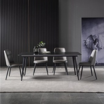 dkf737-china modern luxury home furniture metal slate mable top kitchen dining table supplier manufacturer factory company-furbyme (1)