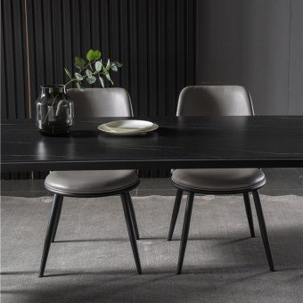 dkf737-china modern luxury home furniture metal slate mable top kitchen dining table supplier manufacturer factory company-furbyme (5)