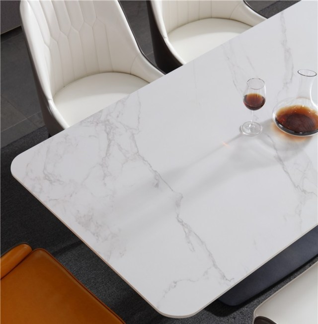 dkf751-china modern luxury home furniture metal slate mable top kitchen dining table supplier manufacturer factory company-furbyme (6)