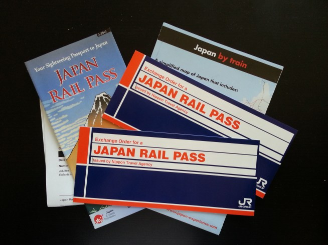 Nos vouchers pour l'echange contre Japan Rail pass