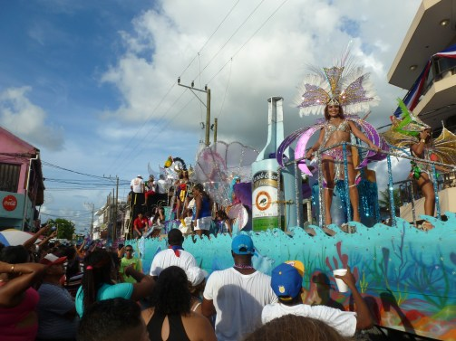 The rum float in Mestizo-dominated Orange Walk