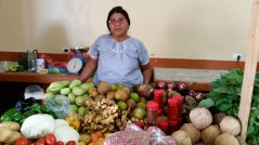 A Mayan woman at the market in PG