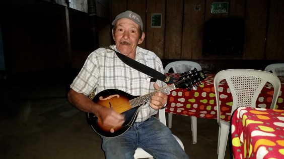 Don Chico playing banjo