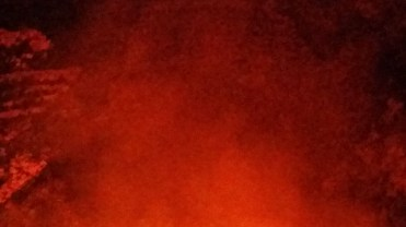 everything was glowing red