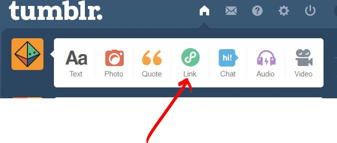 Tumblr Link Paylaşma