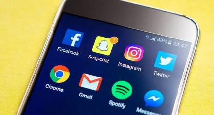 smartphone social media channels