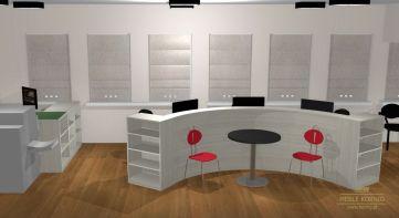 Stolik z krzesłami do konsultacji