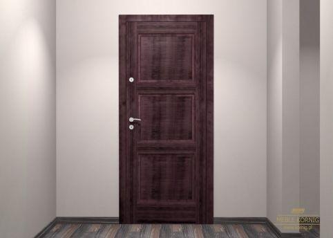 Drzwi wejściowe z amarantu