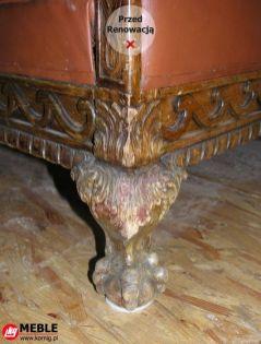 Noga fotela przed renowacją