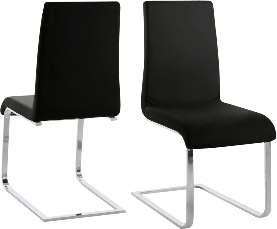 Maddox Swing Chair Faux Leather And Chrome Dining Chairs