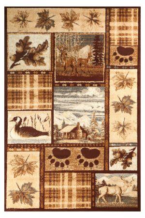 Animal print area rug