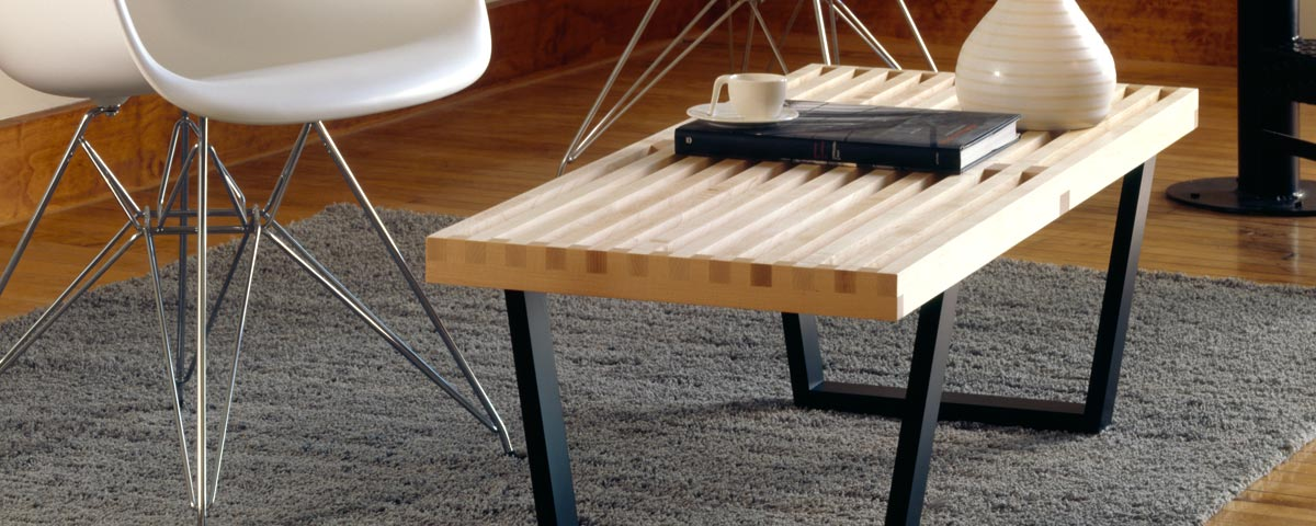 George Nelson Bench Natural Wood Replica FurnishPlus