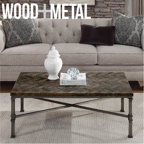 Metal Wood Trends In Home Furnishings Stylin With