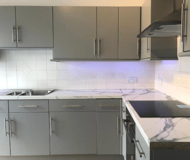 Plymouth Devon Hand Painted Kitchen in Grey