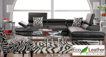 Contemporary Leather Living Room Set