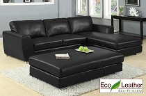 Contemporary Leather Living Room Collection