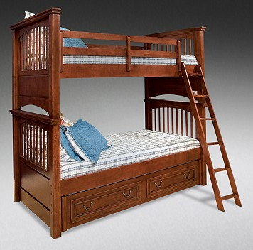 Twin/Twin Bunk Bed w/ Underbed Storage
