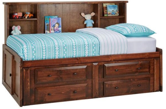 Catalina Chestnut Twin Roomsaver Bed From the RoomPlace