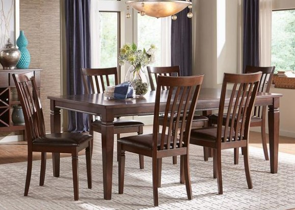 Kelly 7 Piece Dining Room With Slat Back Chairs From The RoomPlace