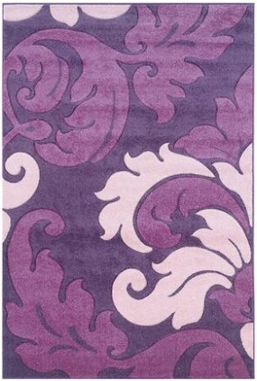 Linon Cyrus Damask Purple Area Rug From The RoomPlace