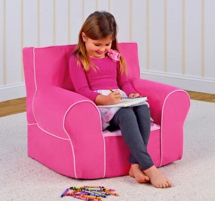 Izzy Bubble Gum Kids Grab-N-Go Chair from The RoomPlace