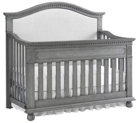 Naples Nantucket Gray Upholstered Convertible Crib by Dolce Babi from The RoomPlace