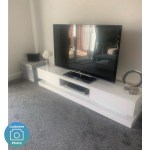 Evoque Large White High Gloss Tv Unit With Led Lighting Tv S Up To 70 Furniture123