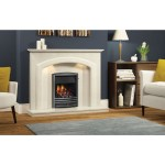 Be Modern Andorra Cream Marble Fireplace Surround With Led Lights 52 Inches Furniture123