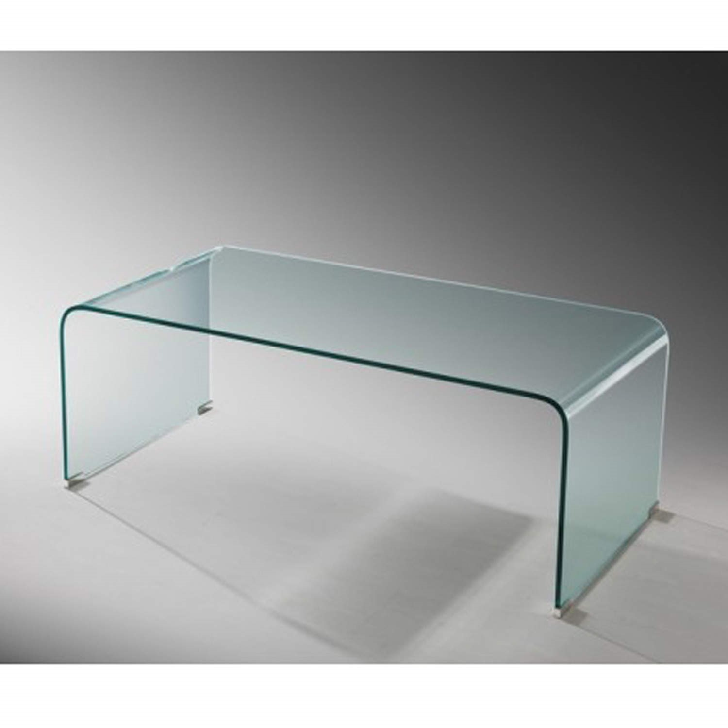 curved glass coffee table lpd azurro