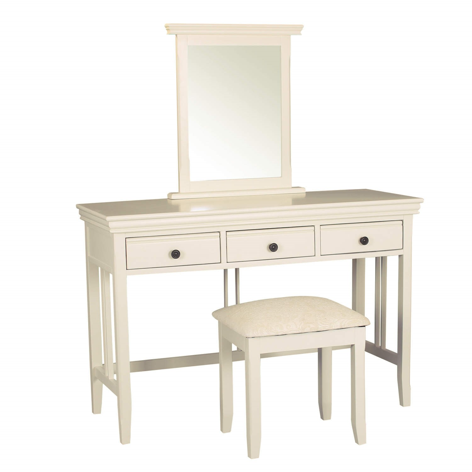 savannah dressing table set in ivory cream includes mirror and stool