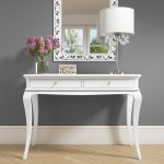 Florentine White Console Table With Crystal Handles Furniture123