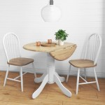 Small Round Drop Leaf Table With 2 Chairs In Wood White Rhode Island Furniture123