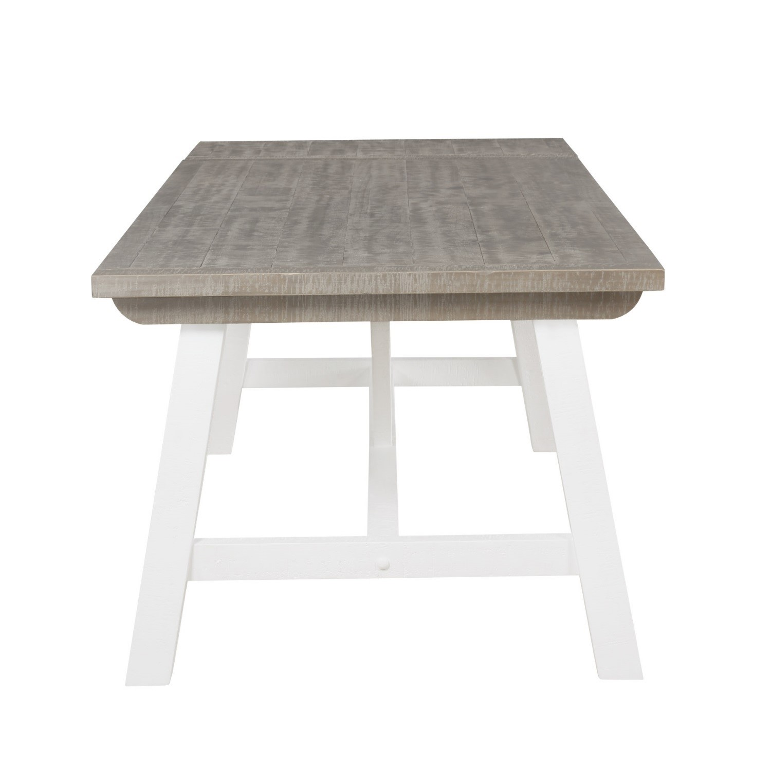 Wood Extendable Dining Table In White Wood Wash Fawsley Furniture123