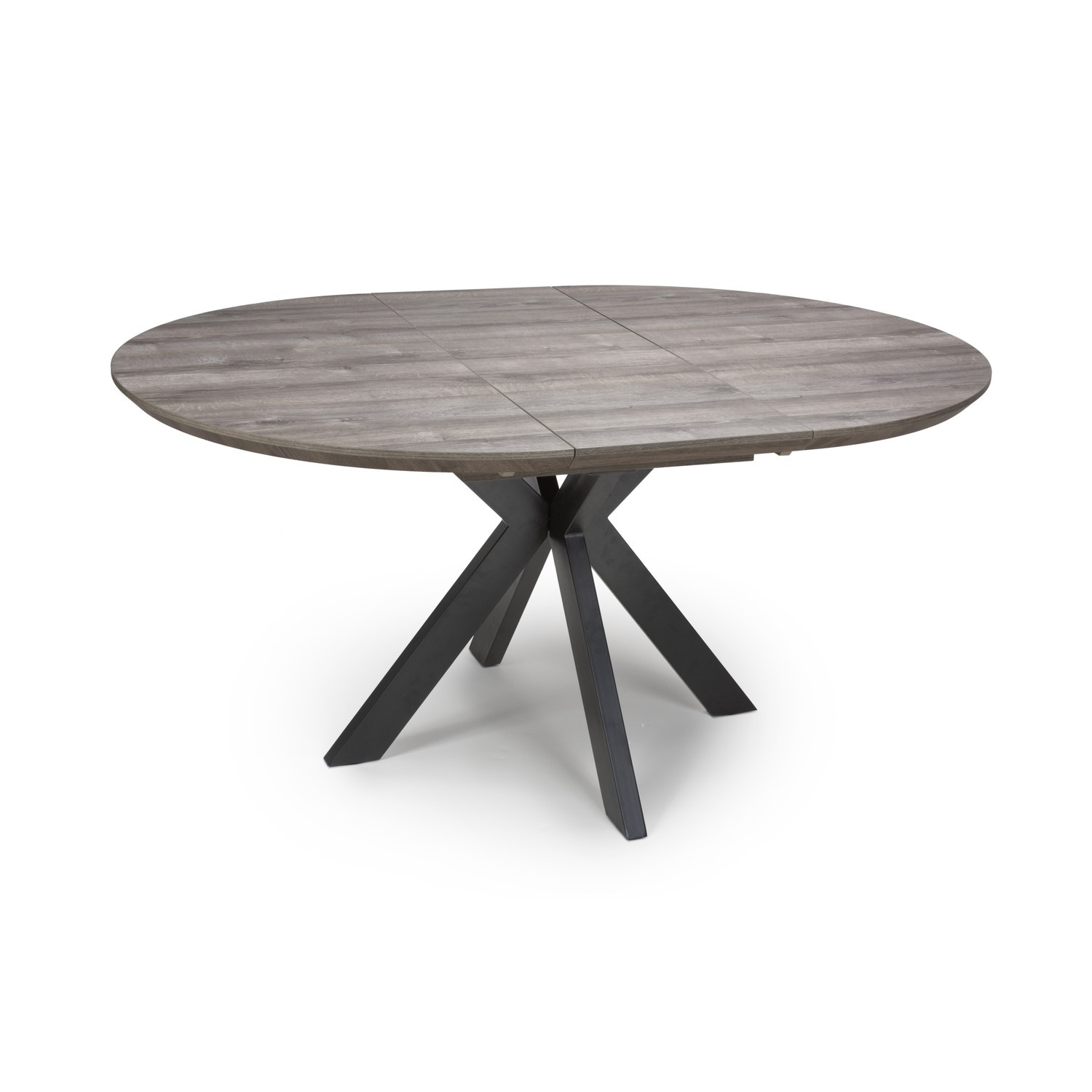 Grey Extendable Round Dining Table Manhattan Furniture123