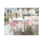 Grade A2 Pink Velvet Tub Chairs With Gold Legs Set Of 2 Logan Furniture123