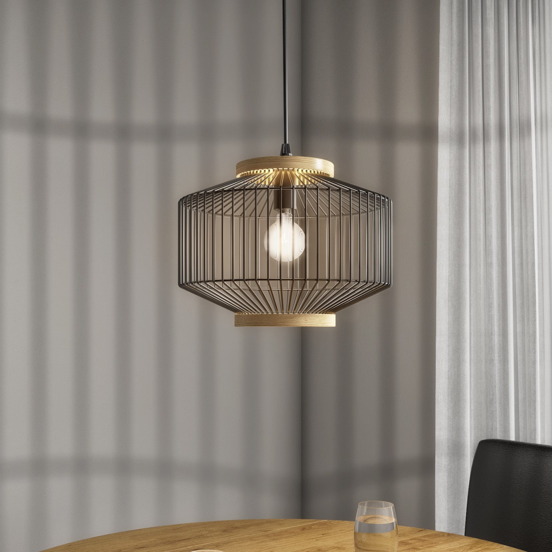 Black Metal Cage Pendant Light Woodbury Furniture123
