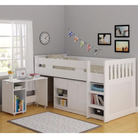 Seconique Merlin Study Mid Sleeper In White Exclusive To