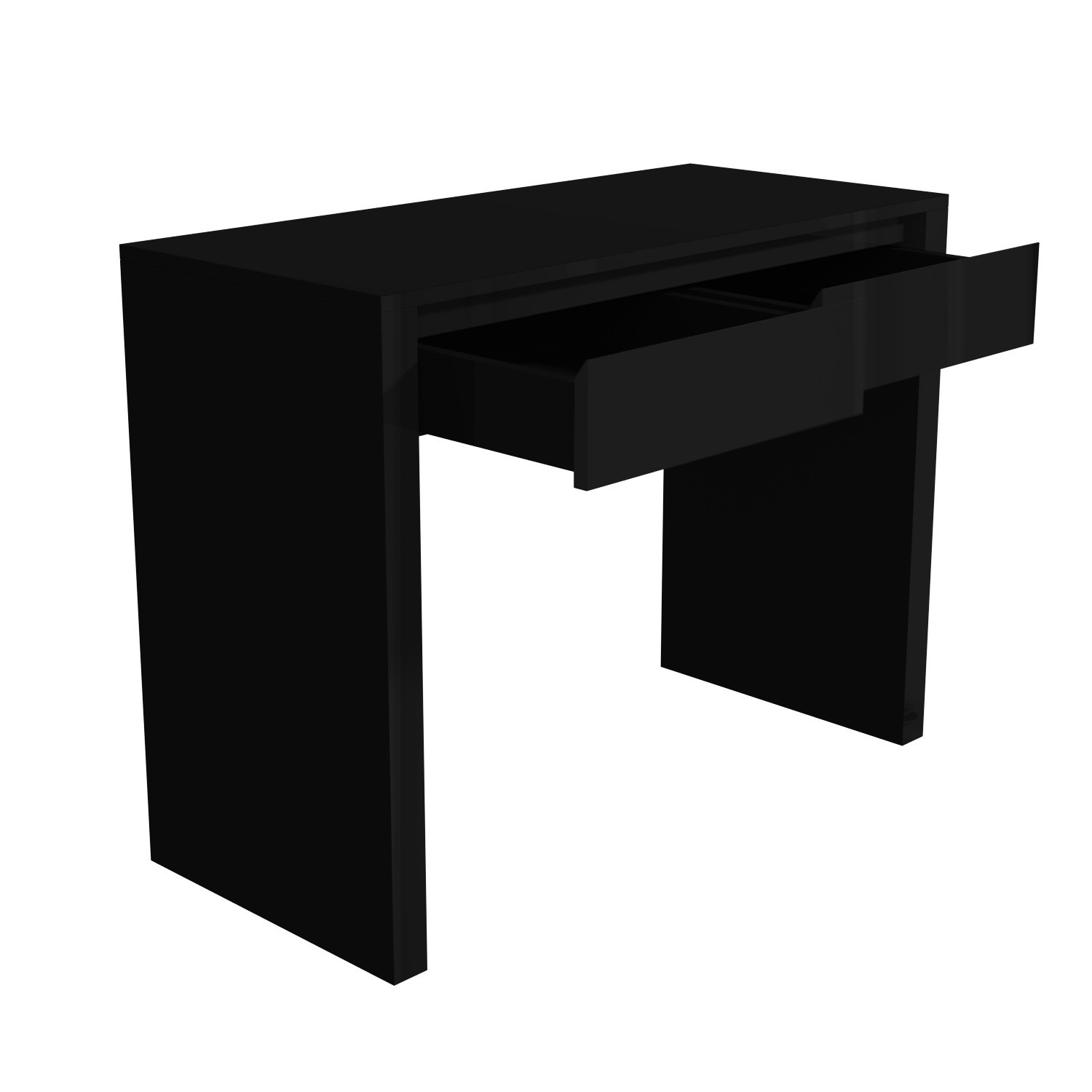 black gloss console table with led drawers tiffany