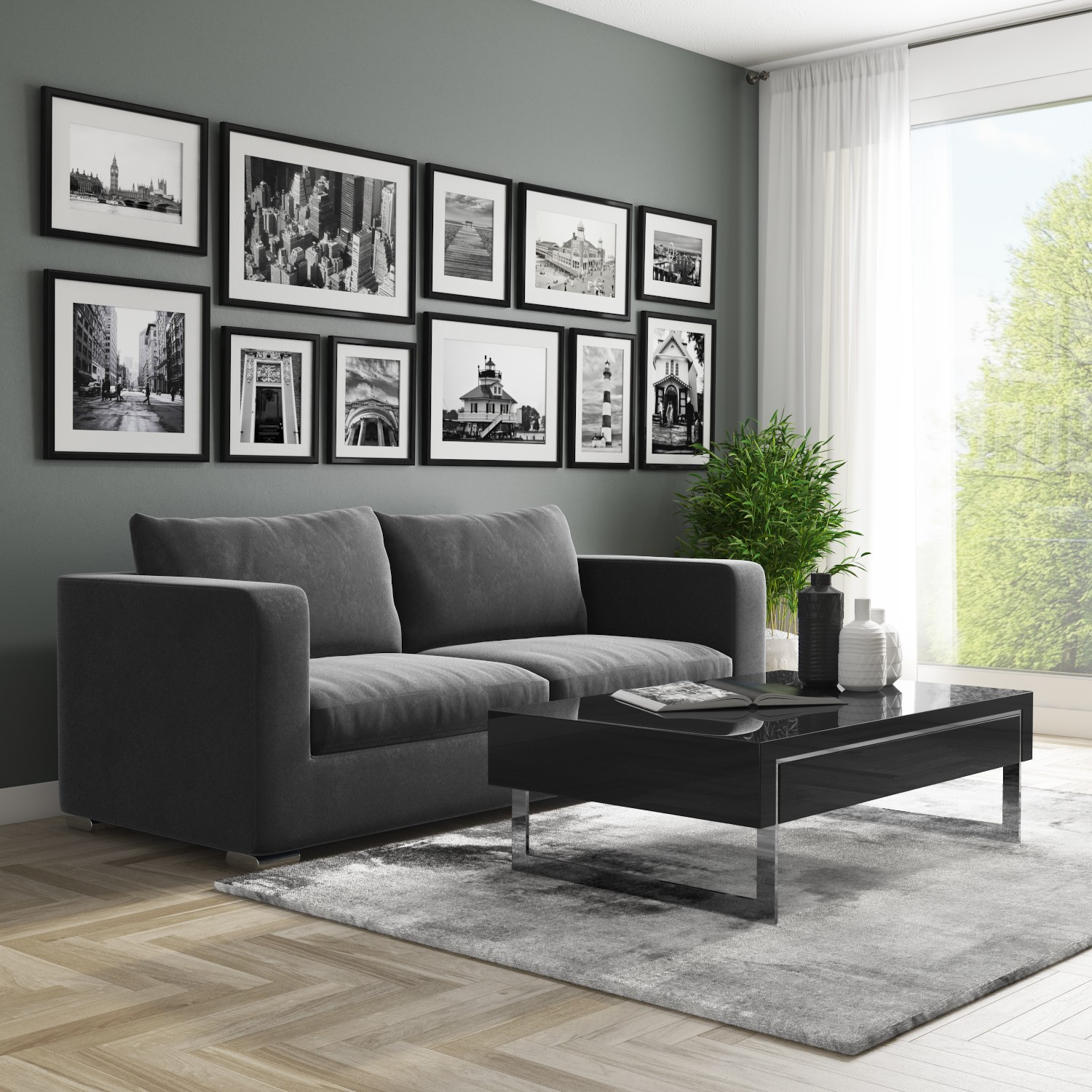 black gloss coffee table with storage drawers evoque