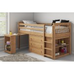 Windermere Solid Pine Mid Sleeper With Pull Out Desk Furniture123