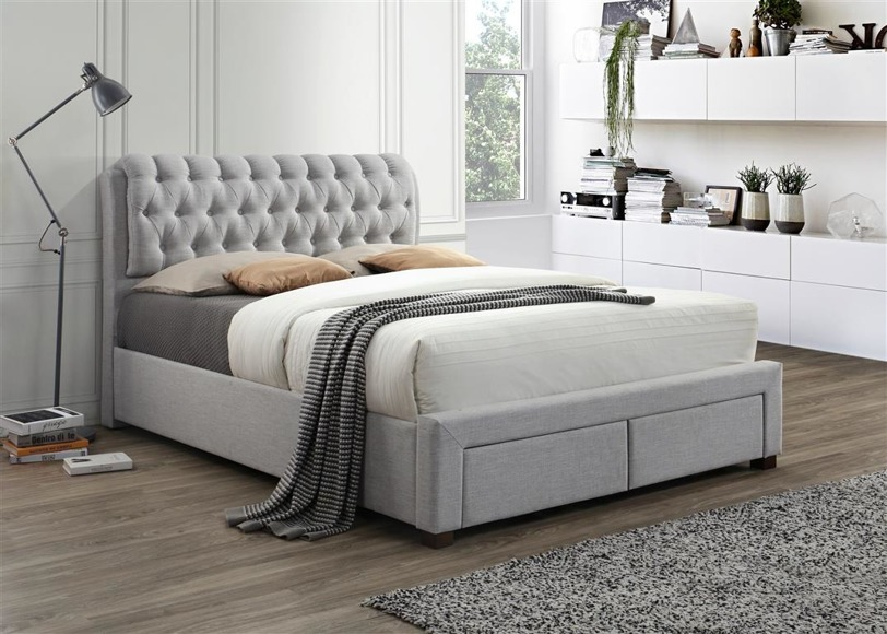 Bed Valentino Light Grey Bedroom Beds All Furniture Beds Bed Mattress Beds