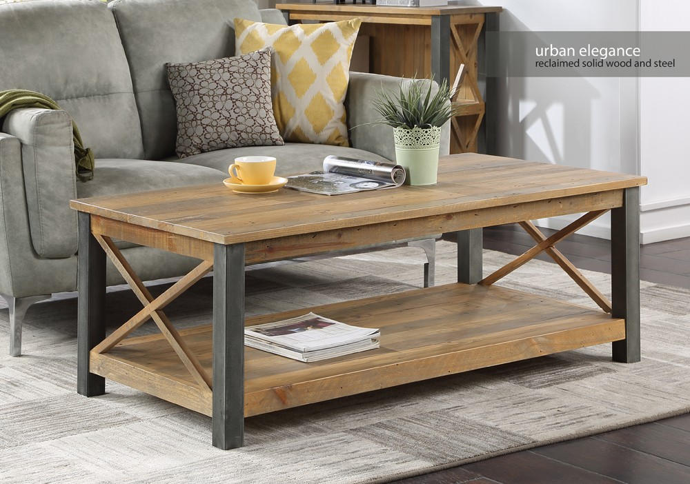 urban elegance reclaimed extra large coffee table