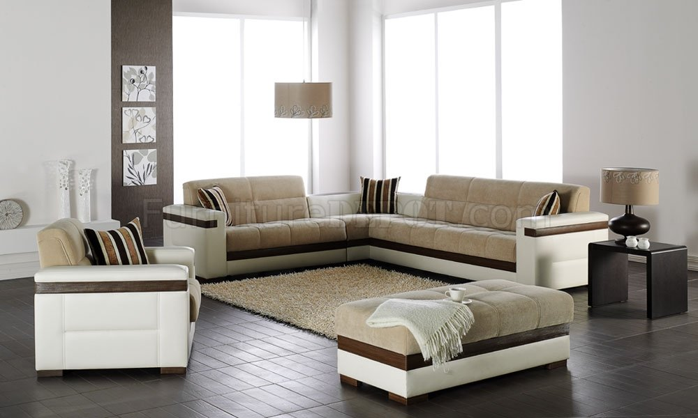 Moon Platin Mustard Sectional Sofa Bed In Fabric By Istikbal