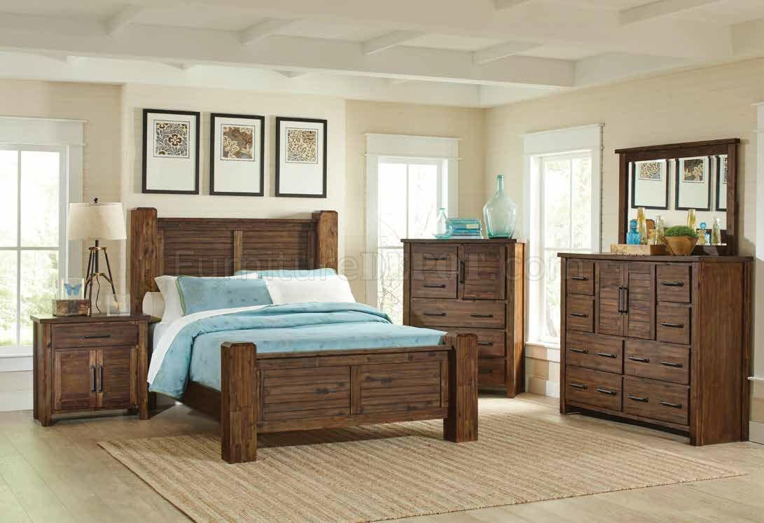 Sutter Creek 5Pc Bedroom Set 204531 In Vintage Bourbon