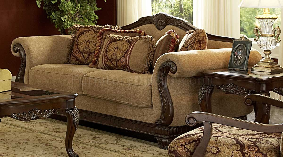 5669 Lambeth Sofa By Homelegance In Chenille Fabric W/Options