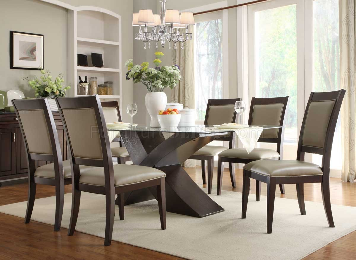 2468-72 Bering Dining Table By Homelegance In Espresso W