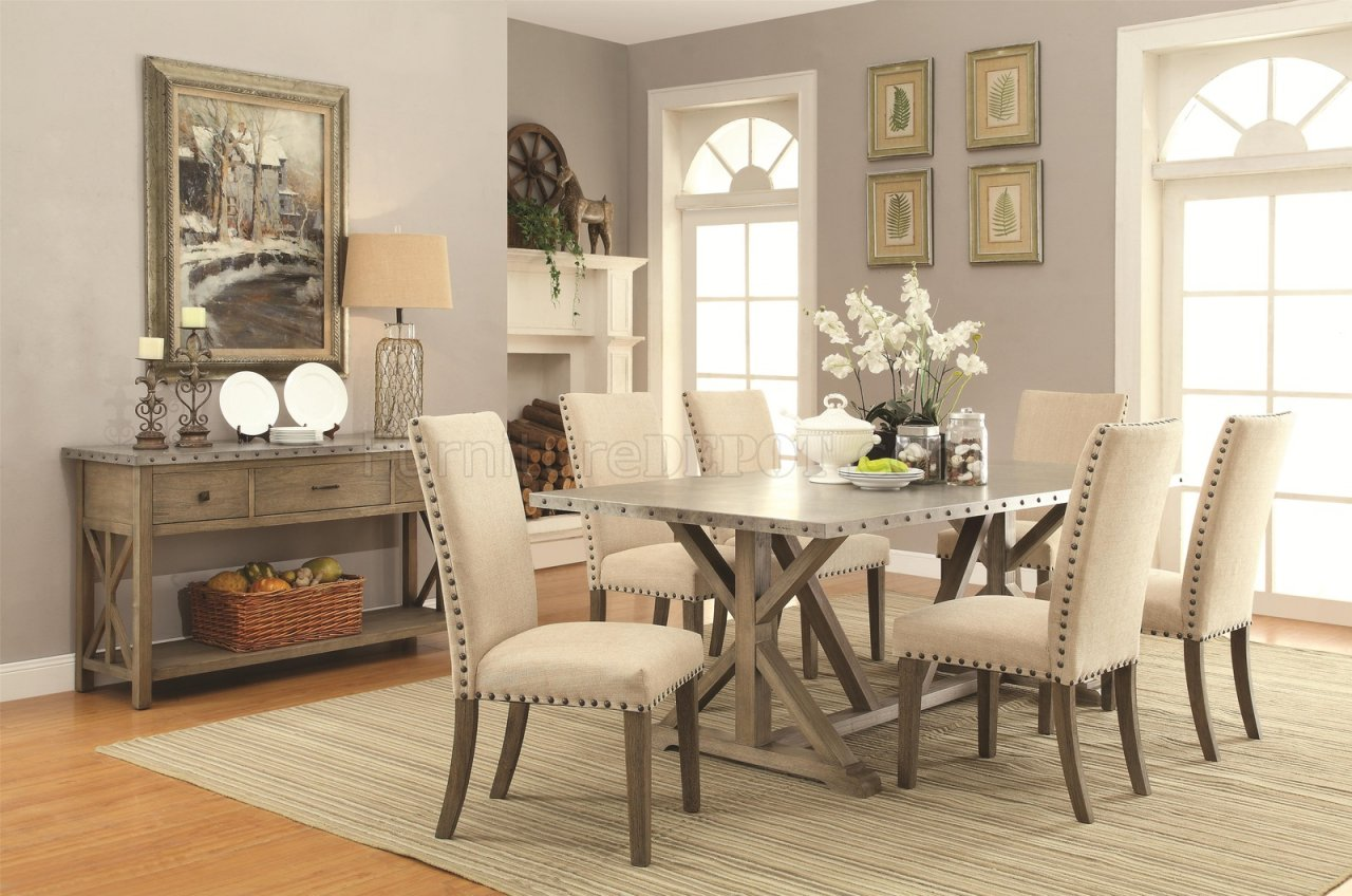 Webber Dining Table 105571 In Driftwood By Coaster W/Options