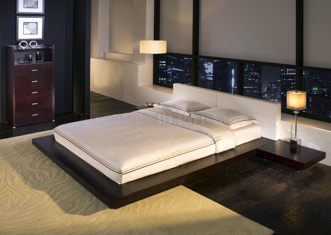 Worth HB39A Platform Bed By Modloft With Built-In Side Tables
